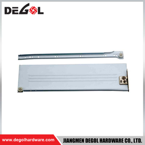 DR101 Metal Box Drawer Slides with Plastic Wheel And Dowels