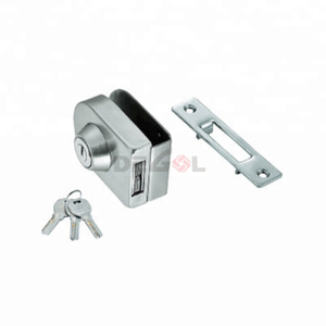 Commercial frameless glass door patch lock