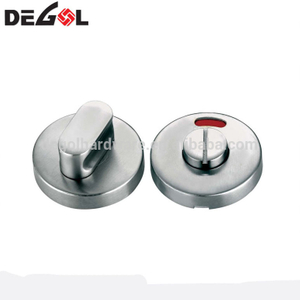 Stainless steel toilet partition bathroom lock thumb turn with indicator
