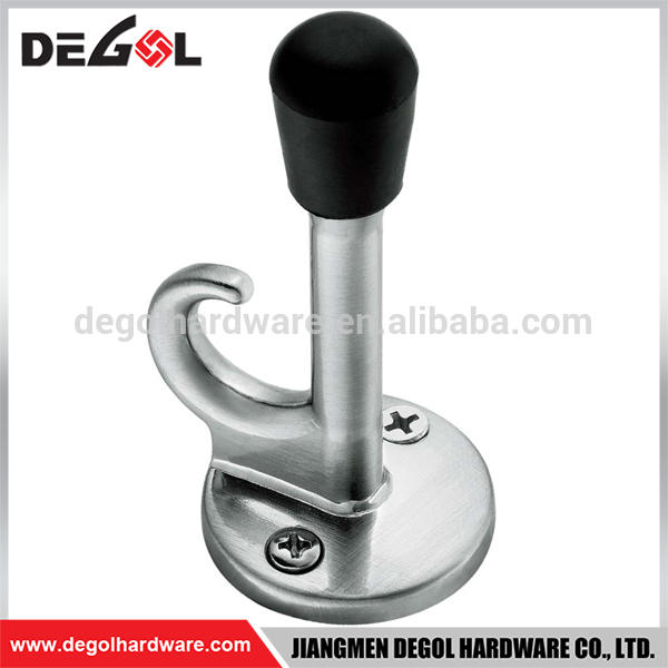 Hot Sale Stainless Steel Door Mounted Creative Unique Different Types of Door Stoppers with Clothes Hook