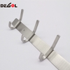 stainless steel hanging coat hook rail