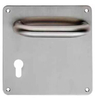 Wholesale Double Single Side Pulls Plate Door Handle With Lock