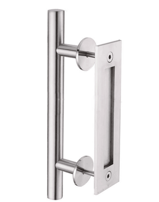 Factory Direct Inox Aluminum Lever Door Handle On Iron Plate