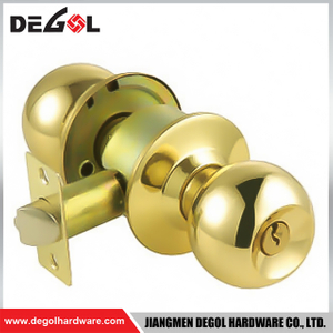 High Class Key Operating System Door Knob Lock with WC Function