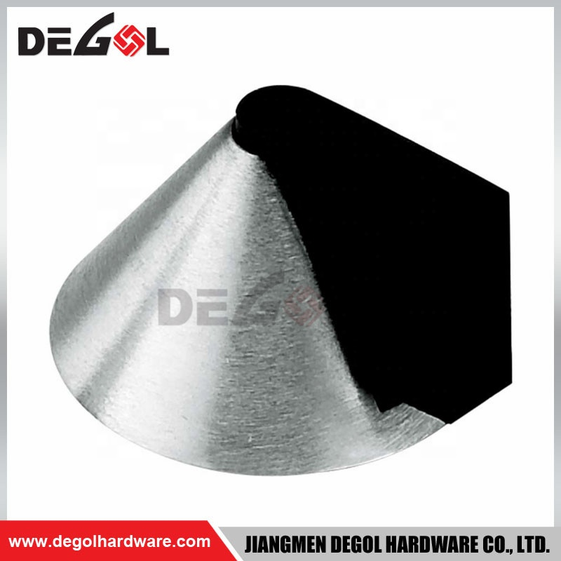 Different type fancy stainless steel door stopper with rubber