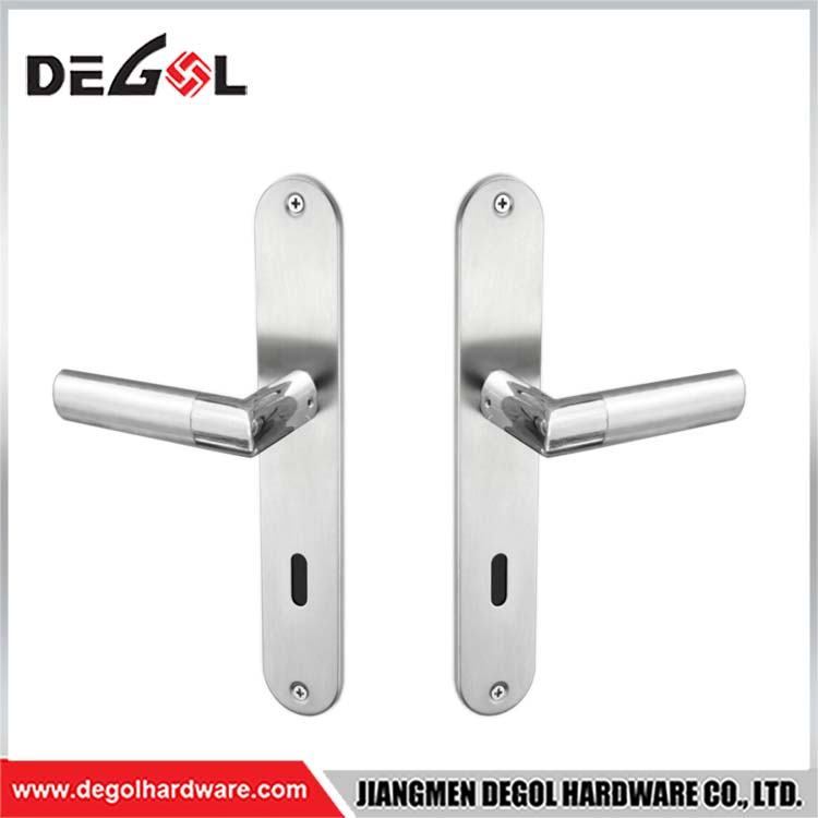 Best Price From China Factory Supply Zinc Alloy Door Lever Handle On Plate