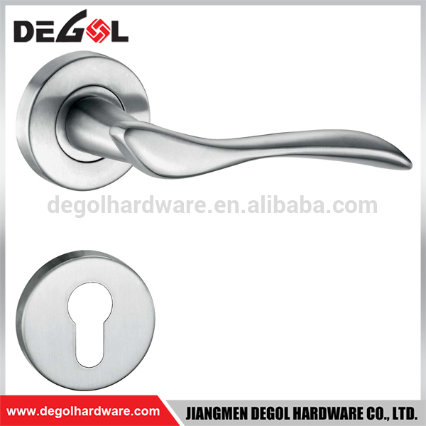Top quality stainless steel solid lever apartment shinning gold european antique door handle
