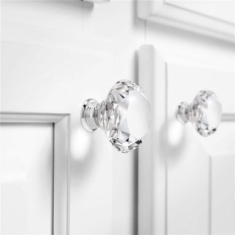 Good Selling Crystal Glass Bedroom Furniture Handles