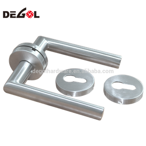 Stainless steel lever wrought iron gate handle
