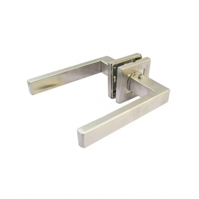 Best selling items interior apartment room stainless steel tube lever wooden door handles