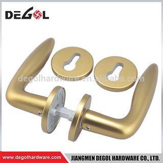 Cheap modern Wenzhou factory gold aluminum sliding door handle and lock for door or window