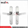 High quality front main door lock door handle lever on back plate