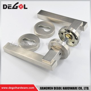 Gate square shape lever handle door lock type stainless steel 304 door handles made in china