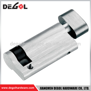 Top quality best rust proof door bathroom brass cylinder lock with thumb turn