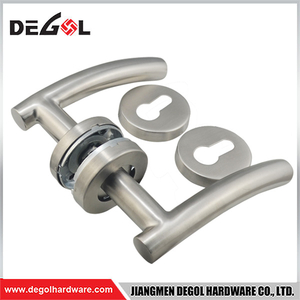 304 Stainless Steel Tube Lever Type Door Handle