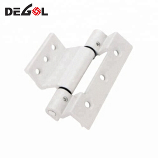 Hot sale types of aluminum alloy silver light duty round groove casement window hinge stay