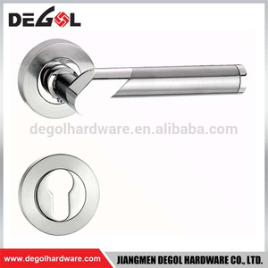 High quality zinc alloy satin nickel door handle