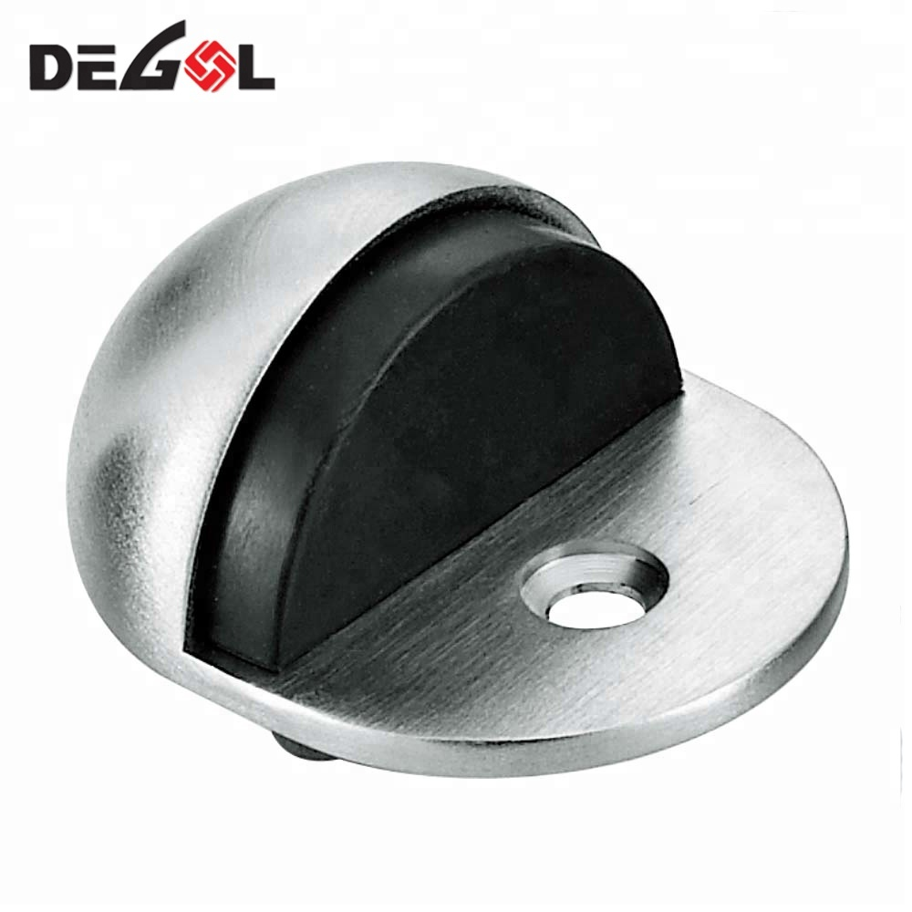 SUS304 Bathroom Furniture Fashionable Design Child Proof Baby Sliding Semicircle Magnetic Door Stopper