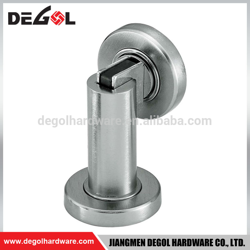 China manufacturer stainless steel security floor mounted door stopper magnetic