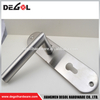 Top quality stainless steel lever door handle on rectangular plate