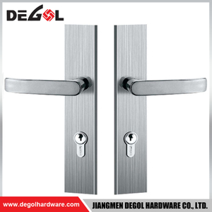 BP1005 Top quality stainless steel residential heavy duty solid lever ss plate door handle