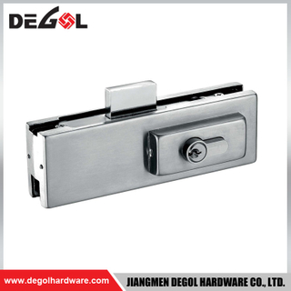 Stainless steel glass door lock patch fitting bottom lock patch