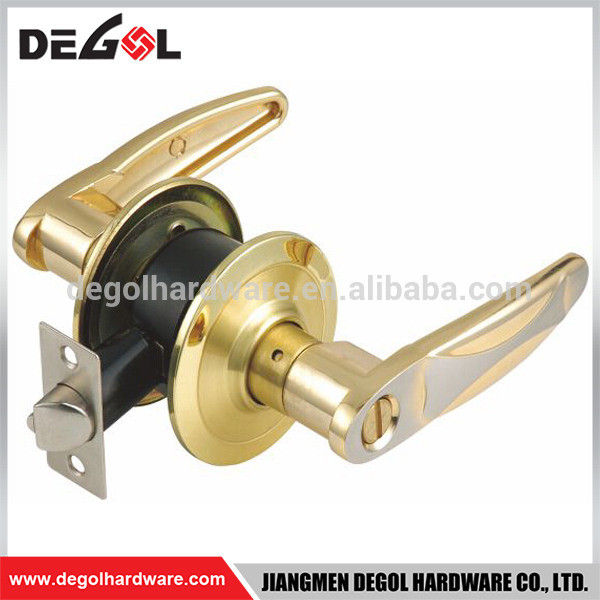 Top quality zinc alloy cylindrical lever double sided key door handle lock