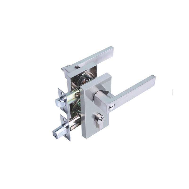 New Design Zinc Alloy Double Sided Mortise Lever Handle Lock