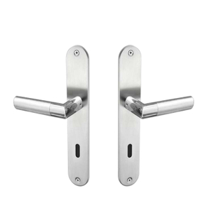 New Product Aluminum Alloy Door Lever Handle On Plate