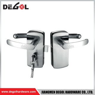Hot sale stainless steel double sided commercial lever glass door lock with handle