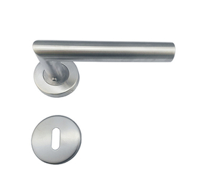 UK popular style stainless steel double sided wood door lever handle