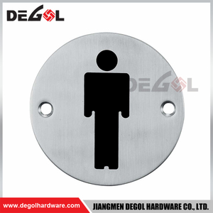 SP1001 Custom Indoor And Outdoor Metal Door Sign Round Plate