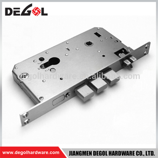 Factory Price Fire Rated Stainless steel European Mortise Door Lock Body for sliding door