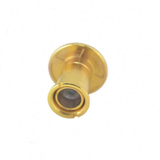 Brass 220 Degree Magnifier Peephole Glass Lens Door Viewer with Cover
