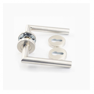 Best selling items double sided solid wholesale zamak door handle on rose