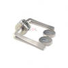 Stainless steel plate door handle with WC knob