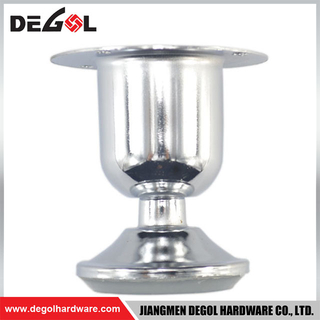 FL1032 beautiful cup type polish stainless steel iron furniture leg for sofa table kitchen cabinet