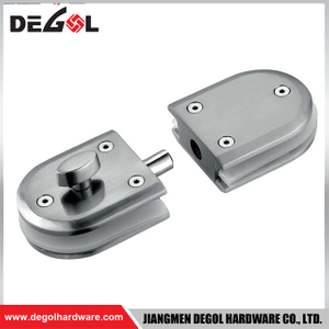 GL1017 security double sided stainless steel glass door handle lock
