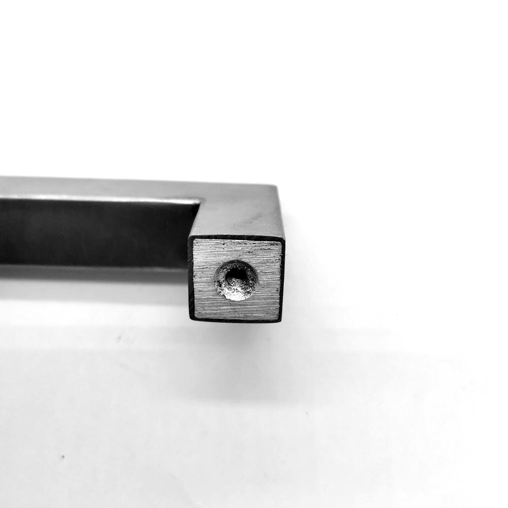 stainless steel solid pipe D shape furniture drawer pulls
