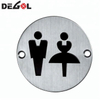 Square Stainless Steel Attention Warning Door Sign Plate
