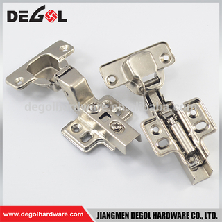 Hot sale iron fix on insert soft closing hydraulic concealed cabinet hinges