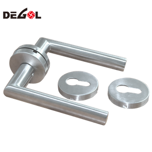 New style Modern stainless steel tube lever type steel industrial hollow pipe lever door handle