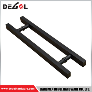 DP1017 Black Square Stainless Steel H Shape Glass Gate Industrial Door Pull Handle