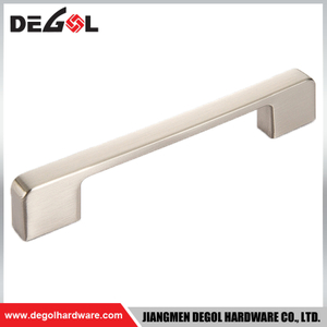 ALU34 Modern design iron cheap furniture handle polish chrome pull handle for kitchen