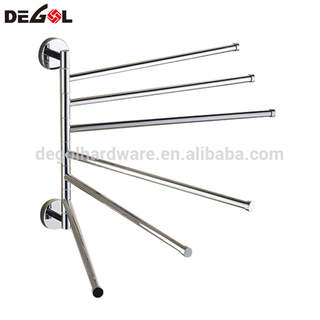 Hot sale brass bathroom removable wall mounted towel rack