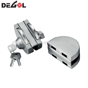Hot sale stainless steel double sided commercial frameless keyless bathroom glass door lock