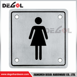 SP1002 Square Stainless Steel Attention Warning Door Sign Plate