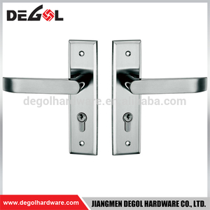 Top Quality Stainless Steel Fireproof Interior Solid Lever Door Handles with Plate